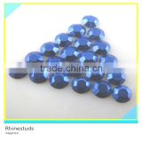 Rhinestud for Shirt Sapphire Round Flatback Metallic Ss6 2mm 600 Gross Package