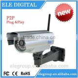 P2P plug and play ip camera outdoor underwater wireless wifi security with night vision and ir cut