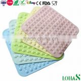 Rubber Anti-slip Anti-bacterial Baby Bath Mat with Suction Cup