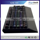 USB 7 colors colorful LED Ergonomic Backlight mechanical Gaming Keyboard shenzhen keyboard