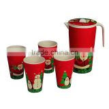 christmas custom serving mug ,Biodegradable bamboo fiber water Decals cup Suit