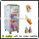 high quality soft serve ice cream machine with 3 colors and low price for sale(CE Manufactor)