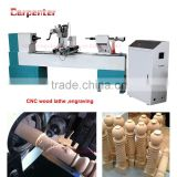 KC1530-S Chinese wood turning lathe with engraving function automatic cnc wood lathe machine price                                                                                                         Supplier's Choice