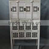 Chinese antique white wooden kitchen furniture