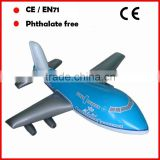 PVC promotional toys inflatable airplane model with custom printing and size