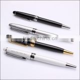 twist action wholesale metal ballpoint pen with custom laser logo