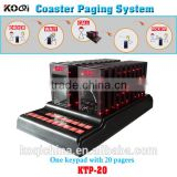 Guest Coaster Pager System for KFC fast food restaurant call customer to pick up order sound vibration flash