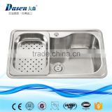 DS8050B Without Faucet Feature and Brushed Surface Treatment Single bowl stainless steel sink