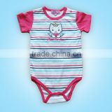 cotton short sleeve baby body Striped baby clothing baby girl clothes