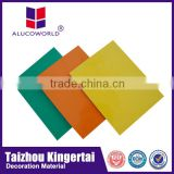 Alucoworld high glossy PE coating sign board of aluminum plastic material composite sheet