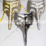 hand craft painted Masquerade venetian Long Nose Mask