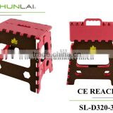 Plastic folding step stool/fish stool for family foot stool/colorful ottomans SL-D320-3A