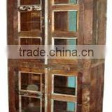 Reclaimed Wood 10 Glass Door Almirah Supplier