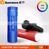 Portable Colorful AAA Dry Battery 9 Led Mini Flash Mr Light Led Reflector Flashlight Torch