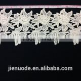 New Arrival Latest Design Fashion Handmade Embroidered Beautiful Quality Embroidered Cotton Lace Trim