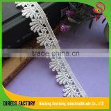 Direct factory polyester polish saree border evening dress lace trimming for garment decoration