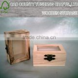 Paulownia glass cover a small wooden box Jewelry box gift box packaging boxes wooden box