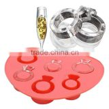 Ice Tray Diamond Love Ring Ice Cube Style Freeze Ice Mold Ice Maker Mould Special for Hot Summer Free Shipping MTY3