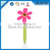 Wholesale Cute Gift Flower Rubber Ball Pen , Soft Beautiful Plastic Flower Pen For Girl                                                                         Quality Choice