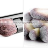 24 pcs oem goat hair handmade wholesale makeup brush set/cosmetic brushes kit/private label free sample with make up pouch