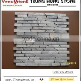 Light Grey Panther Broken Edge Marble Mosaic Tiles