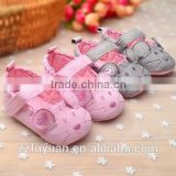 2015 no brand anti-slip soft-soled new born baby toddler shoes& prewalker-little mouse design