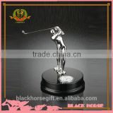 most popular metal golf trophy with wood base