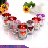 branded scented Wedding/party decorative votive coorful glass candle jars                                                                         Quality Choice