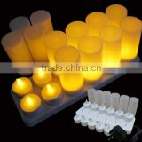 flamelss rechargable led candles set 12