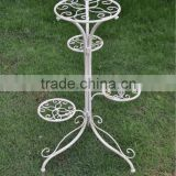 Best price professional manufacture handicraft garden decor white wrought iron flower pot stand