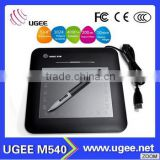 Ugee M540 Touch Screen Digitizer for Signature 5*4 Inch 1024 Pressure Sensitive 2800 LPI 133RPS USB Connect