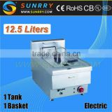 Commercial Deep Fat Fryer 12.5 Liters Home Deep Fryer Potato Chips Machine (SY-TF400A SUNRRY)