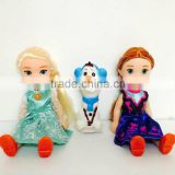 DIHAO Mini frozen Kawaii movable joints Plastic cartoon Frozen doll princess anna & elsa olaf girls with shoes children