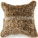leopard printing pillow/faux fur pillow covers/fashion luxury pillows