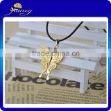 Wedding gift Butterfly Custom Gold Plated Pendant, Gold Foil Necklace For Women