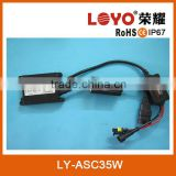 Hot sale car slim canbus HID xenon ballast 12V 35W with self manufacture DSP canbus HID ballast
