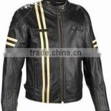 Protective downhill leather motorbike jacket for men , Boys motorbike leather jacket cool fashion style