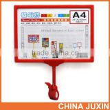 Hot Selling Supermarket Plastic PoP Clip Sign Holder Wholesale A3 A4 A5                                                                         Quality Choice