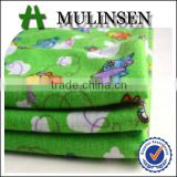 Mulinsen textile airplane pattern soft shirt fabric designed for child, polyester fabric machine made