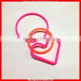 Different size silicone hair band 3MM hair band/3.5MM hair band/heart shape hair band (KMS-1559)