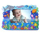 factory direct sales embossed custom design soft silicone photo frames,PVC photo picture frame