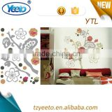 2015 3d layer wall sticker,strawberries wall decals,metal wall clock
