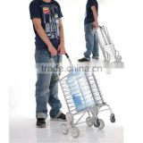 Aluminum multi-purpose folding travel trolley basket luggage cart hand trolley with wheels