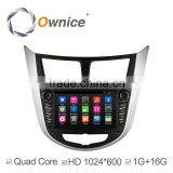 Ownice C300 Android 4.4 quad core Car Electronics navi for Hyundai Verna Accent Solaris support DVR TV 3G AUX IN USB