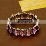 Arrival crystal glass Bracelet with crystal beads unit selling(R-1332