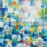 Famous Abstract Flower Glass Artwork Painting Natural Scenery Wall Picture For Living Room