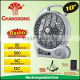 Wholesale rechargeable cooler mini radio fan