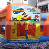 Top grade commercial inflatables jump and slide combo