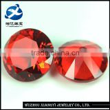 16mm New super bright red round brilliant cut synthetic gems crystal glass ruby prices rough uncut gemstones