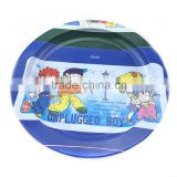 Custom logo beautiful metal tin plate round chocolate tin tray